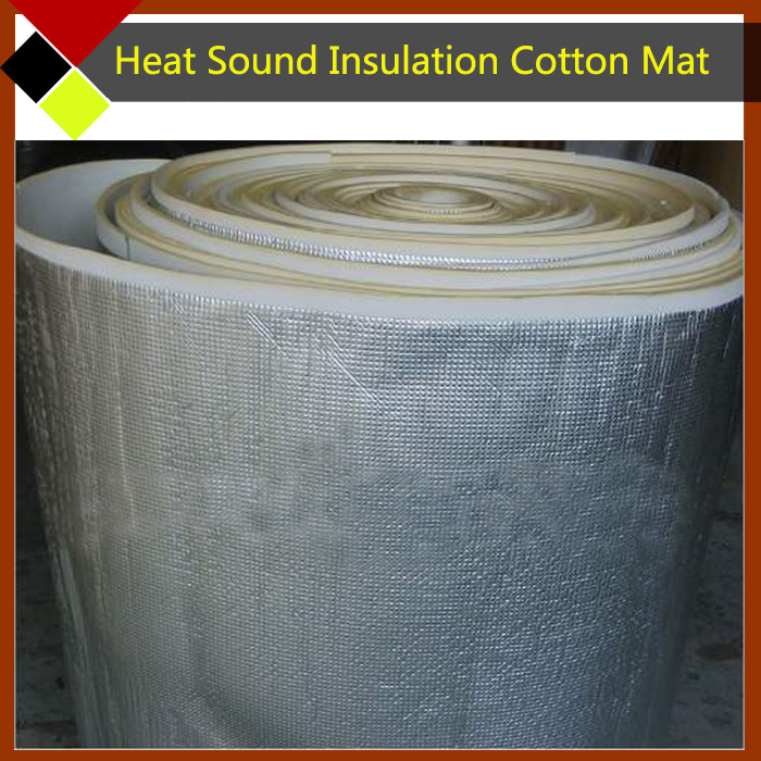 Фотография 250cm x100cm Car Hood Tailgate Firewall Door Aluminum Foil Heat Deadener Sound Proof Insulation Cotton Rattle Vibration Control
