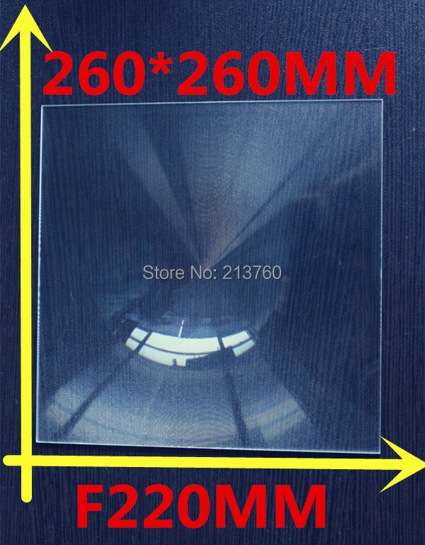 260*260MM Fresnel Lens ,Focal length 220mm,2016 hot fresnel lens solar square fresnel lens(China (Mainland))