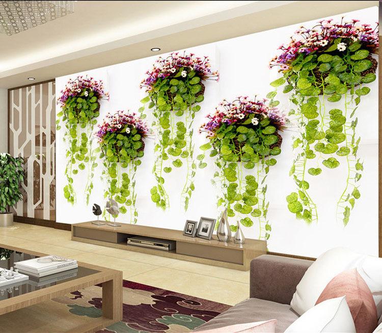 Natural Scenery Photo Wallpaper Green Plants Wall Mural 3D Elegant Wallpaper  Designer Art Room Decor Bedroom