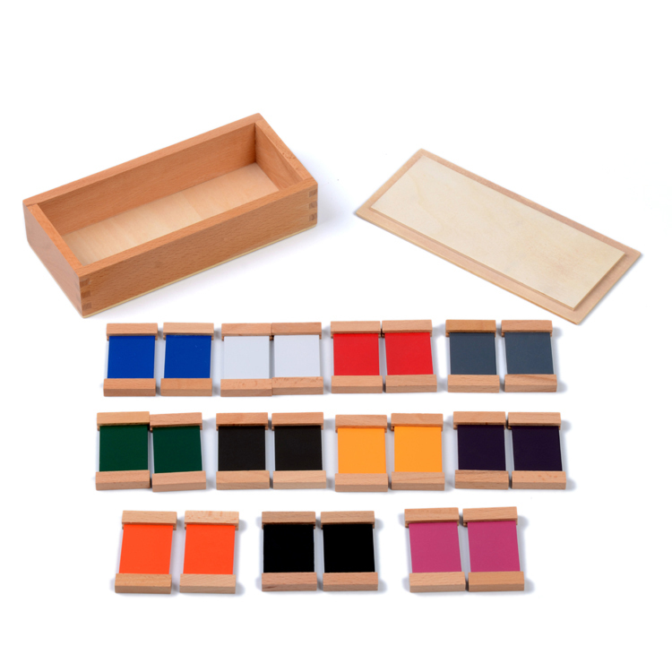 Baby Toy Montessori Wood Color Tablet 6.6cm 2nd Box Early Childhood Education Preschool Training Kids Toys Brinquedos Juguetes(China (Mainland))