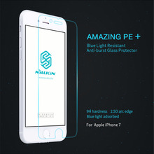 For Iphone7 NILLKIN Amazing PE+ Blue Light Resistant 2.5D Tempered Glass Screen Protector Film For Iphone 7