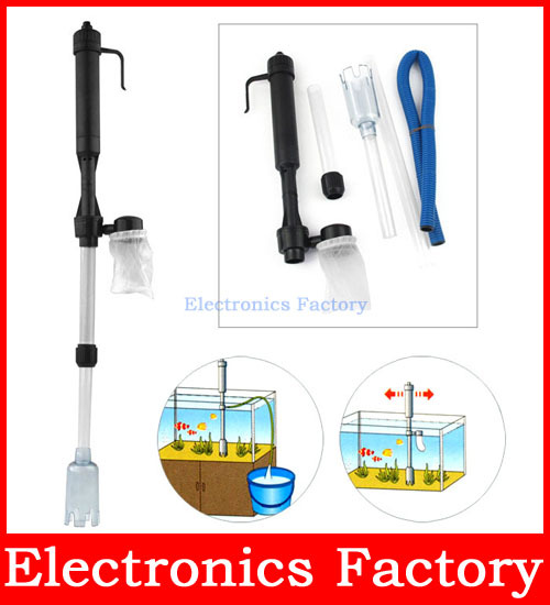 Aquarium Auto Electric Battery Syphon Siphon Fish Tank Vacuum Gravel Water Filter Cleaner Washer Power by C/LR14 Battery(China (Mainland))