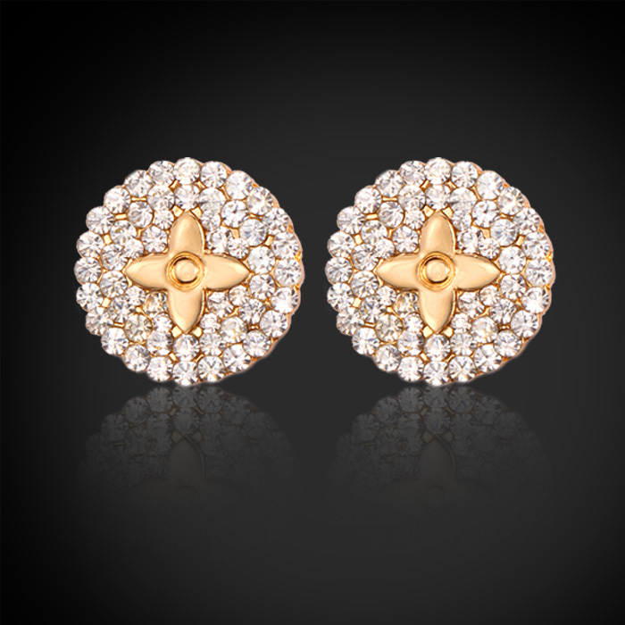 Vintage Studs Earrings New Design Fashion Cute Star Clear Austrian Rhinestone Earring Jewelry Gift Women Accessories Brand E613(China (Mainland))