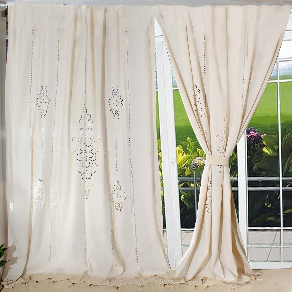 Country-Cotton-Linen-Crochet-Lace-Curtain-Panel-Drape-for-Living-Room ...