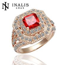 Fashion female beaded crystal jewelry engagement rings for women, wedding rings for brides bohemian turkish jewellery ruby R064