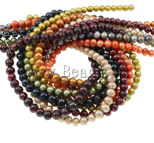 Free shipping!!!Potato Cultured Freshwater Pearl Beads,Vintage, mixed colors, 7-8mm, Hole:prox 0.8mm, Lenth:prox 16.5 Inch<br><br>Aliexpress