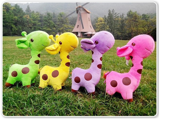 38 cm giraffe plush toy animal lovely stuffed toy(China (Mainland))
