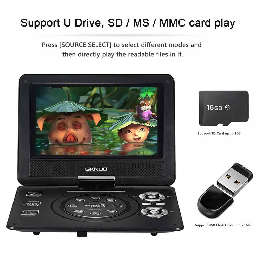 2016 New 9 Inch 270 Rotate Screen Portable DVD Player Digital Multimedia Game Mobile USB SD/MS/MMC Card Reader FM Radio(China (Mainland))