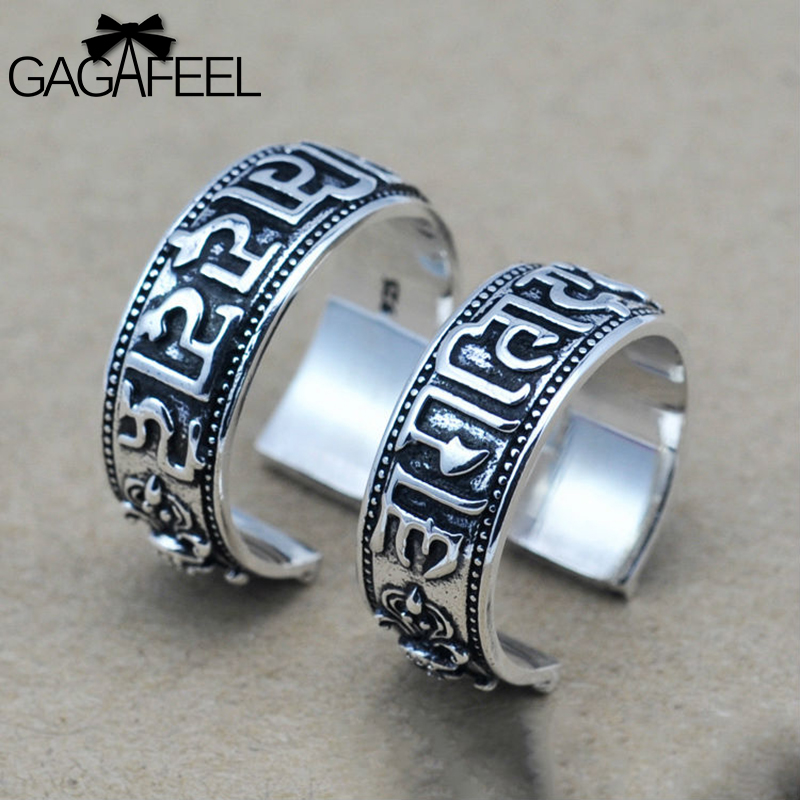 2014 new fashion 100% real 925 sterling silver rings handmade men HipHop & rock punk jewelry Indian Mantra JHYR02 - Gagafeel Jewelry Factory Co., Ltd store