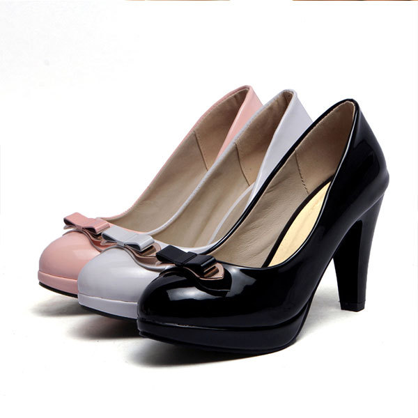 2015 summer new round toe bowtie high heels solid color sweet high heels breathable and comfortable women shoesD2243<br><br>Aliexpress