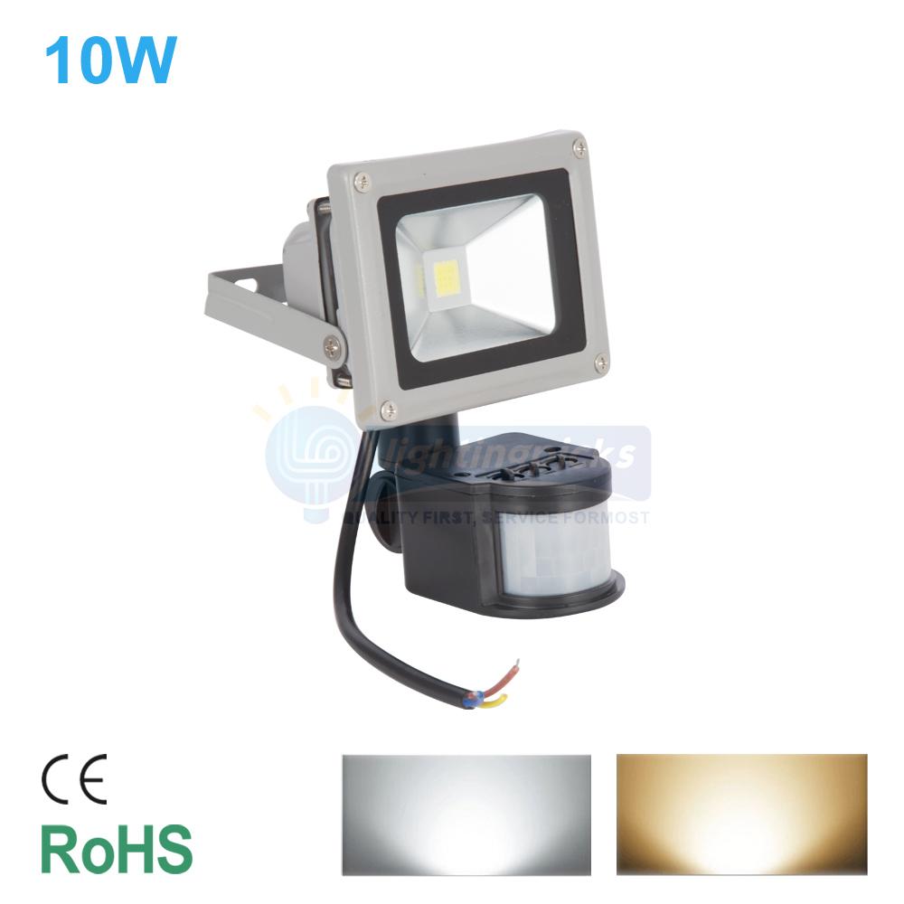 10W 30W 50W LED Motion Sensor Flood Light Waterproof Outdoor Projector Lamp I