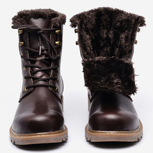 37~49 men winter boots plus size top quality cow split motorcycle retro leather boots #LS008(China (Mainland))