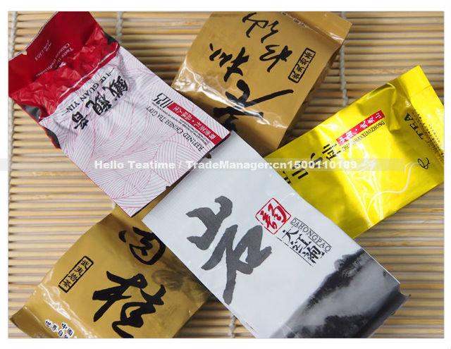 Combination 5 different flavors Anxi tie guan yin Da hong pao Rou gui Lapsang souchong Laocong shuixian Wuyi tea leaves on sale