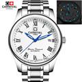 2016Carnival tritium luminous military automatic mechanical brand men watches sapphire luxury full steel watch relogio masculine