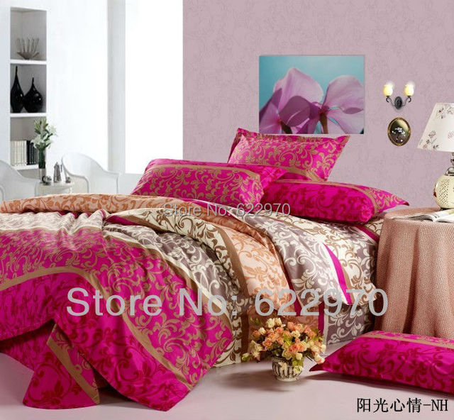 Promotion Free Shipping  2013 New Fashion 100% cotton 4pcs bedding sets duvet cover Bedding sheet  pillowcase