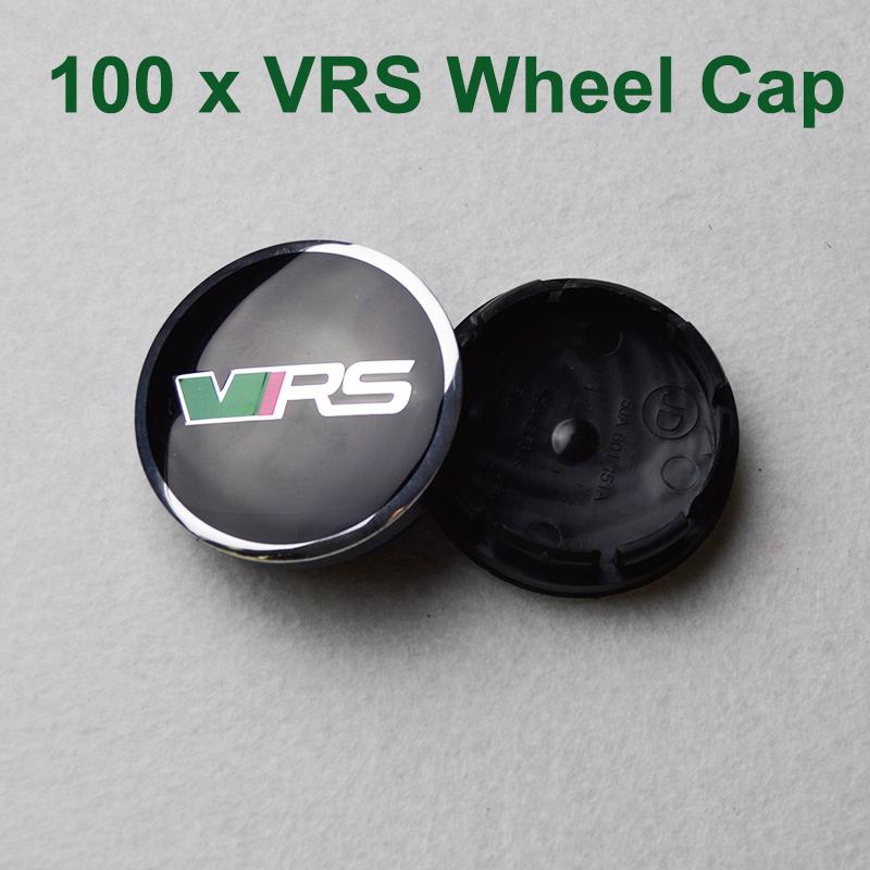 100pcs For VRS Skoda Octavia Fabia Superb YETI Auto Wheel hub Logo Caps 56mm Wheels Rims Accessories Car Wheel Rim Emblems Cover(China (Mainland))