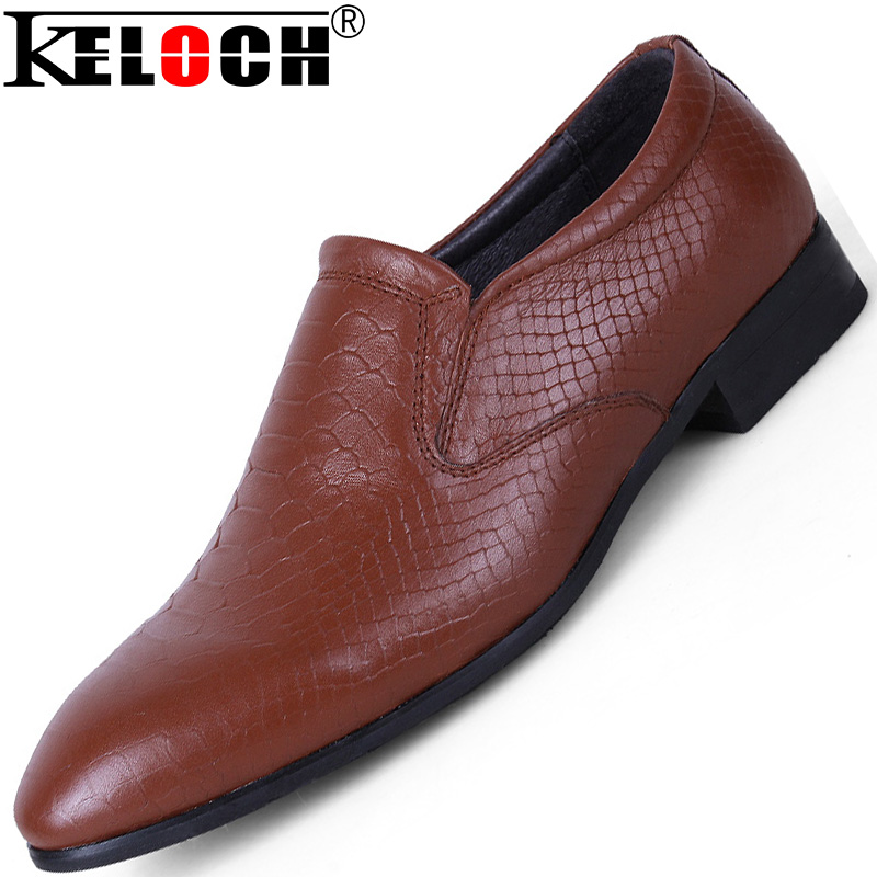 Keloch Big Size 35-50 High Quality Genuine Leather Men Shoes Loafers Casual Leather Oxford Shoes For Men Leather Shoes Moccasin