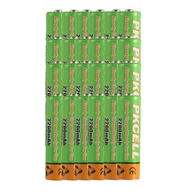 24pcs*AA 1.2V 2200mAh   Low self-discharge  Rechargeable Ni-MH  Battery for camera,toys etc-PKCELL(China (Mainland))