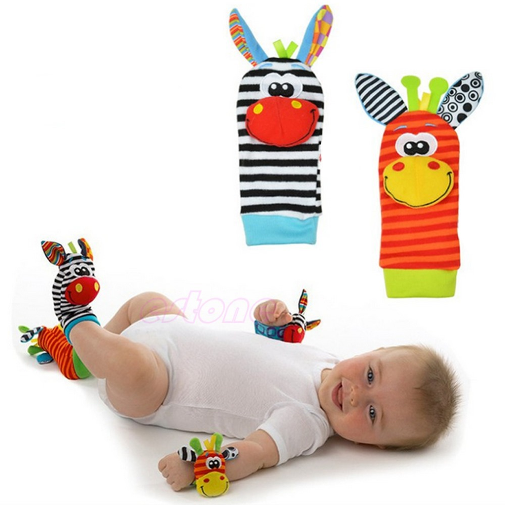 1PC Animal Infant Baby Kids Foot Sock Finders Soft Rattles Toys New(China (Mainland))
