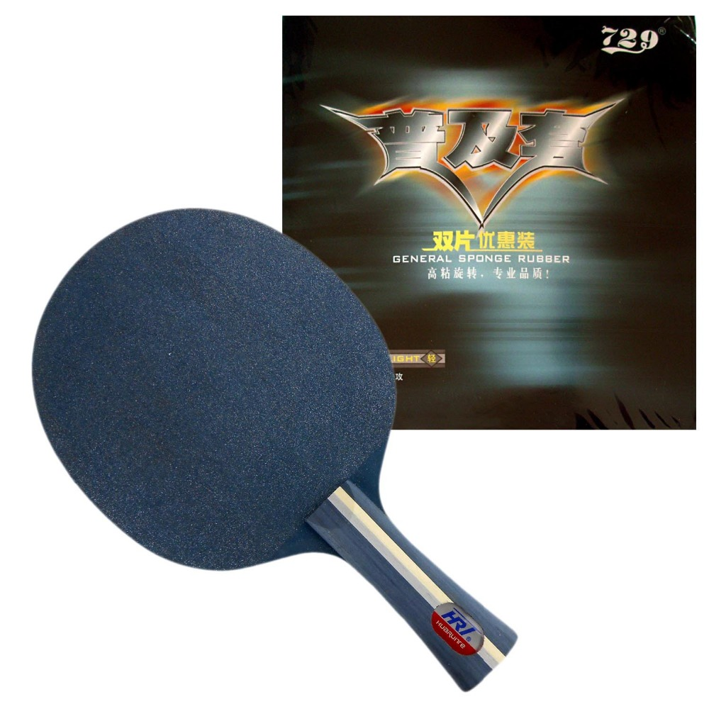 HRT Blue Crystal Table Tennis Blade With 2x RITC 729 General Rubber With Sponge for a Racket(China (Mainland))