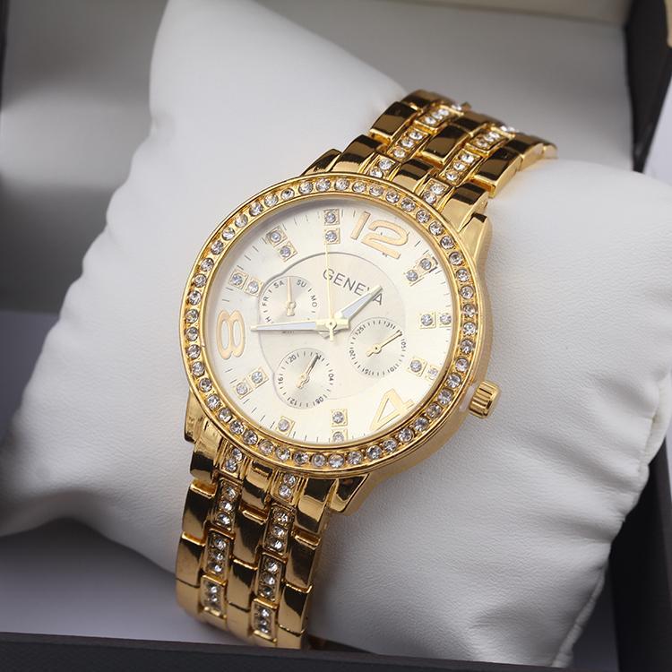 Гаджет  Hot sale new 2015 fashion casual watch quartz women geneva stainless steel dress ladies watches female clock  retails  None Часы