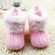Moda infantile del bambino ragazze crochet knit stivali stivaletti bambino inverno neve stivali scarpe(China (Mainland))