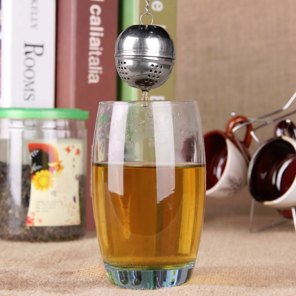 1pcs Strainer Tea filter Silver Stainless Steel Teakettles Locking Spice Egg Shaped seasoning Ball Wholesale(China (Mainland))