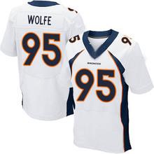 Men's #95 Derek Wolfe Elite White Football Jersey %100 Stitched(China (Mainland))
