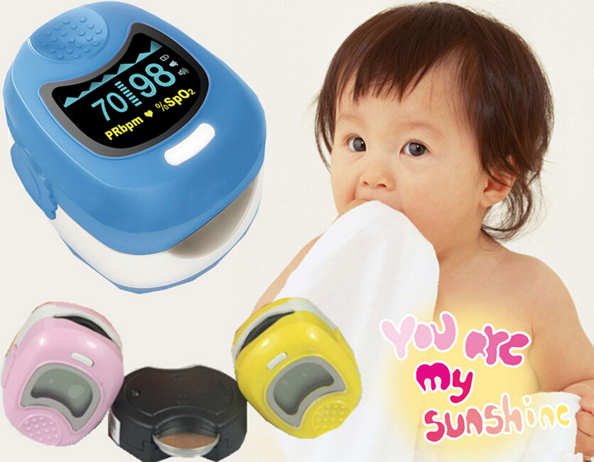 2016 Hot Sale 1pc Children Color OLED Fingertip Pediatric Pulse Oximeter - Spo2 Monitor Kids Three Colors Optional(China (Mainland))