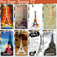 fashion DIY painting Eiffel Towers hard pc cover case Sony Xperia T2 ultra XM50h Phone bags cases skin sheer - Fashion Case Factory store