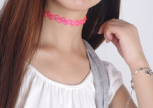 New Fashion Vintage Stretch Tatoo Necklace Elastic Tattoo Choker Necklace many styles For Choose(China (Mainland))