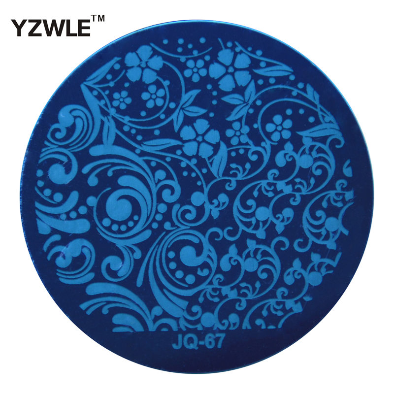 YZWLE 1 Pcs Stainless Steel Plate Image Stamp Stamping Plates DIY Manicure Template Nail Polish Tools (JQ-67)(China (Mainland))