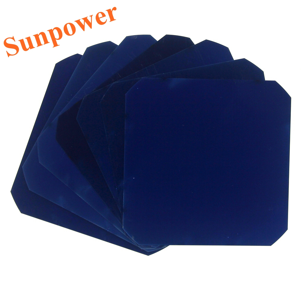 10 Pcs 3.2W High efficient Flexible Mono Sunpower Solar Cell 5x5 Grade A Maxeon C60 125MM For DIY Photovoltaic Solar Panel(China (Mainland))