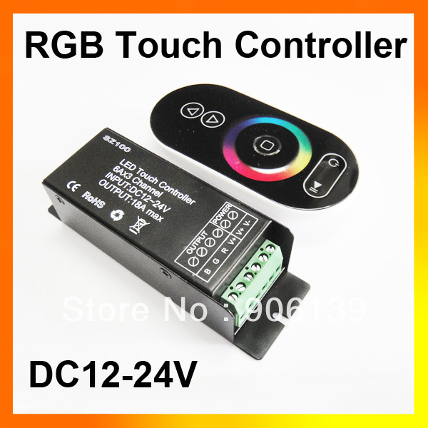 Wholesale 12V 18A Wireless RF Touch LED Remote Controller For RGB Strip light(China (Mainland))