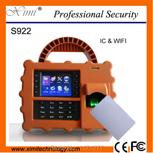 IP65 S922 Fingerpront time attendance system wifi and Battery backup TCP/IP 5000 fingerprint capacity high-tech office device(China (Mainland))