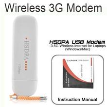 100pcs 7.2M HSDPA 3G SIM Card USB 2.0 Wireless Modem Unlocked WLAN Network Card Adapter Free Shipping(China (Mainland))