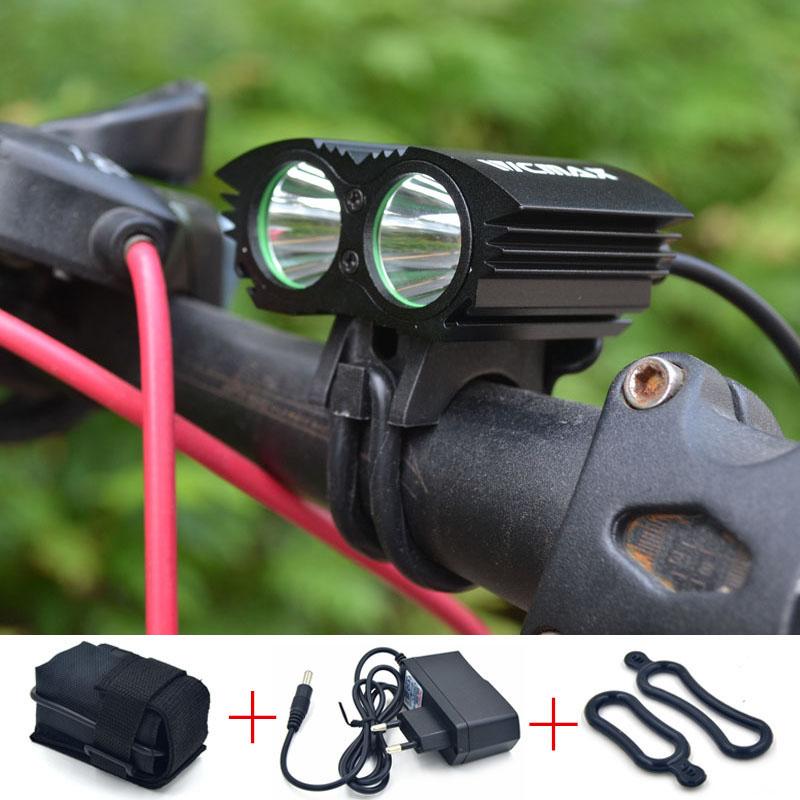 2015 Bicycle light Bike Light 5000 Lumen Cree XML U2 LED Bicycle Light Bike Light Lamp + 6400mah Battery Pack + Charger
