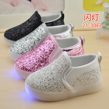 2016 New Children Luminous Sneakers Child Baby Shoes with Led Flashing Boys Girls Casual Canvas Shoes 06256(China (Mainland))