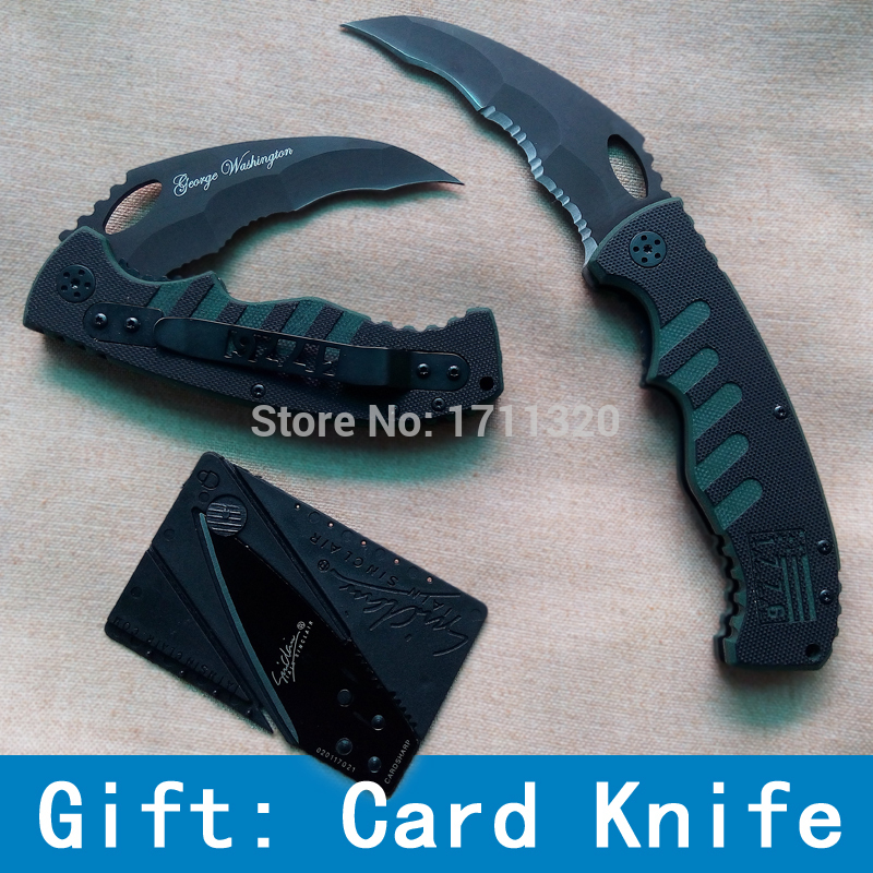 Top Quality Steel Tartness Folding Knife Serrated Tactical Machete Outdoor Camping Knives Survival Hunting Knife Wholesal(China (Mainland))