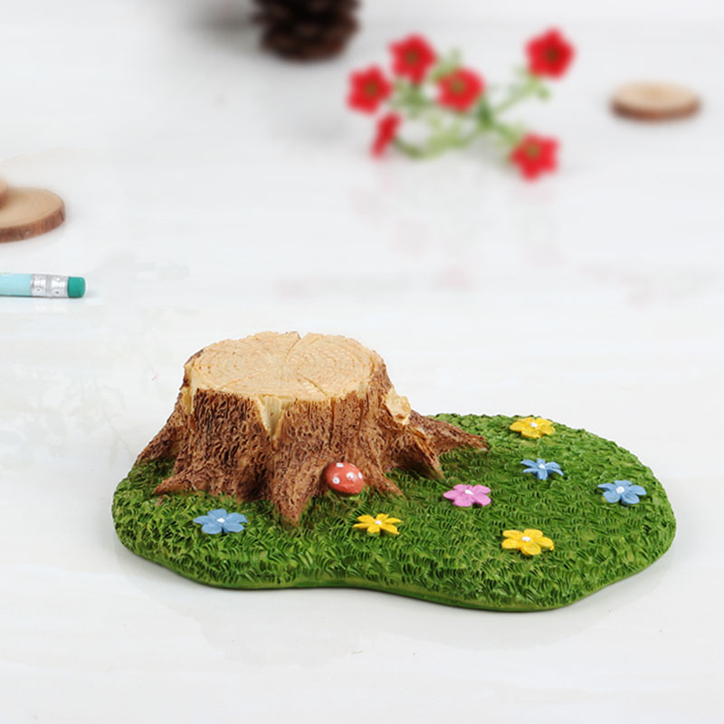 2pcs/lot Best Selling Microlandschaft Accessories Resin Grassland Stump Home Bookcase Decoration Background Props Crafts WZ(China (Mainland))
