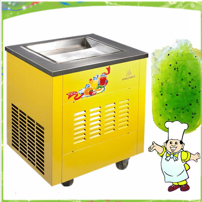 free shipping high capacity commercial fried ice cream pan machine(China (Mainland))
