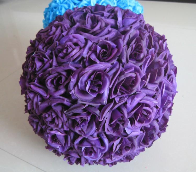 10inch (25cm) Wedding Kissing Balls Pomanders Romantic Silk Flower Kissing Balls Factory Wholesale (4)