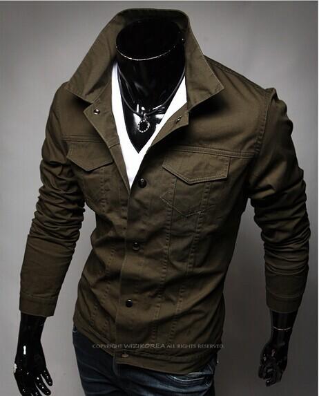 New Man Jacket Autumn Winter Down Brand Outerwear CAUSAL Luxury Cargo Jackets Blazer 2015 ...