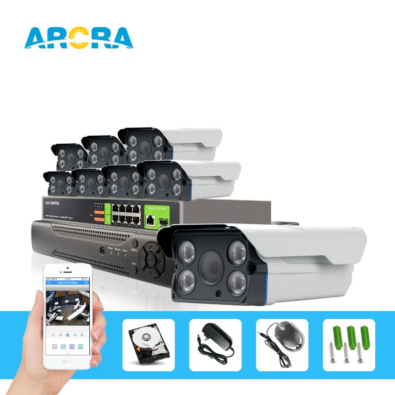 8Pcs 2MP POE Outdoor Starlight Bullet IP Camera Low 0.0001 Lux Day&Night Color CCTV 8CH 1080P POE NVR System Surveillance Kit(China (Mainland))