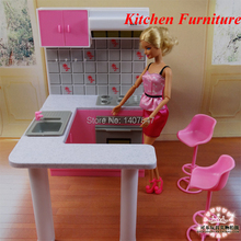 2015 New Dream kitchen furniture set for baby doll Toys for girls Doll accessories miniature dollhouse furniture