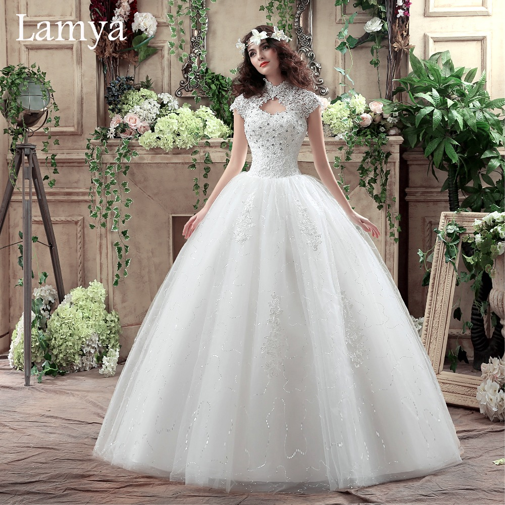 Lace sweetheart short wedding dress 2016 cheap plus size for Discount plus size wedding dresses