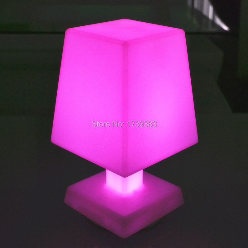 Free Shipping Color changing rechargeable Plastic LED Mood desk table lamp remote control bedroom night mood lighting(China (Mainland))