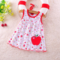 2016 New Summer Cute Baby Girl 100 Cotton Newborn Infant Baby Princess Casual Dress 0 18