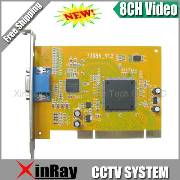 8 CH DVR Card CCTV System Security Equipment PCI Video Capture XR-7308A(China (Mainland))