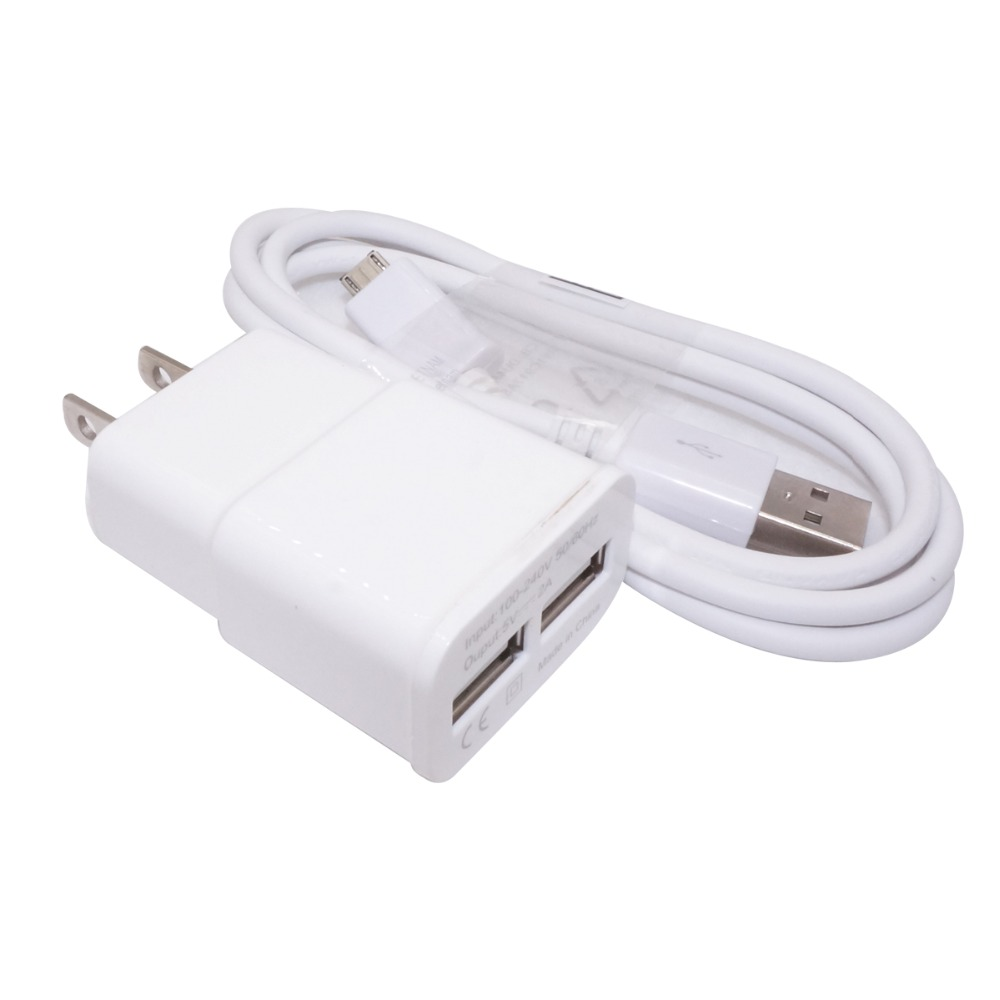 US Plug Wall Charger And Micro Usb Cable For Android phone (White)(China (Mainland))